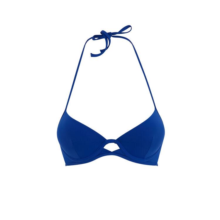 Gabiz blue push-up bikini top;