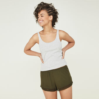 Newpompiz khaki shorts green.