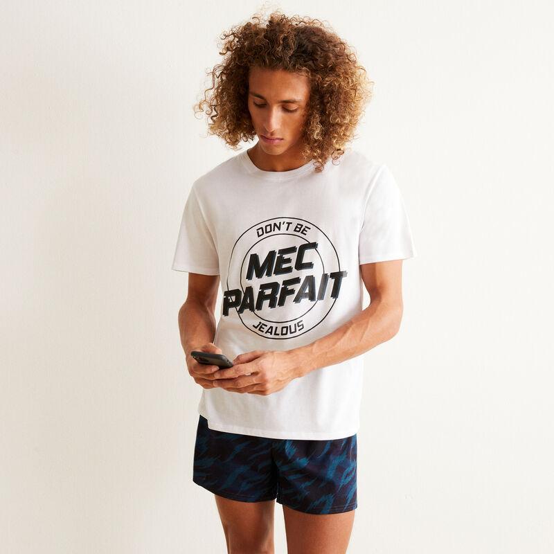 mec parfait pyjama shorts set - white;
