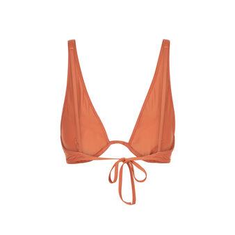 Doussiz camel-coloured bikini top brown.