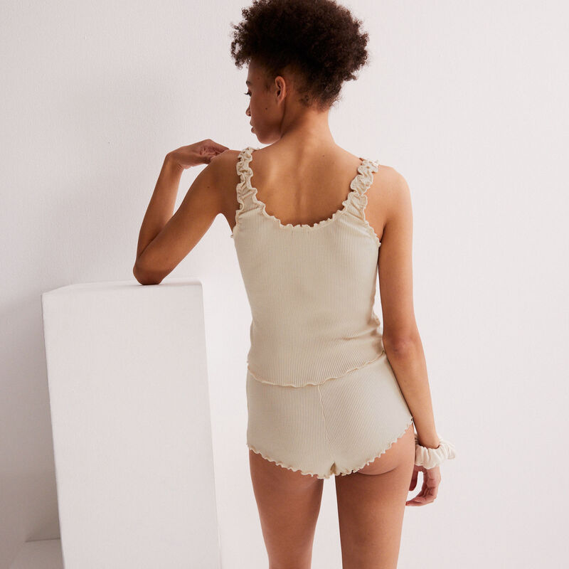 pyjama set with matching scrunchie - off-white;