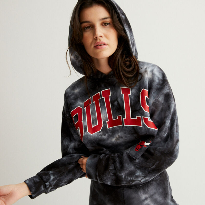 Chicago Bulls smoke cropped sweatshirt - black;