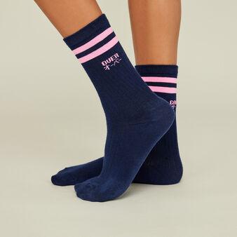 Basobimiz blue socks blue.