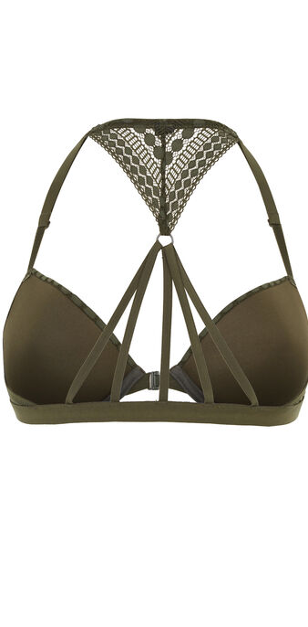 Scotchiz khaki padded bra grün.