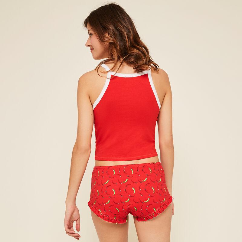 Calientiz red shorts;