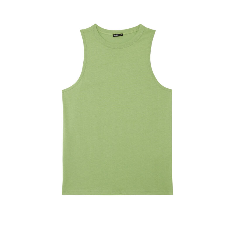 unisex jersey vest - green;