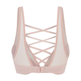 Inloviz powder pink push-up bra pink.