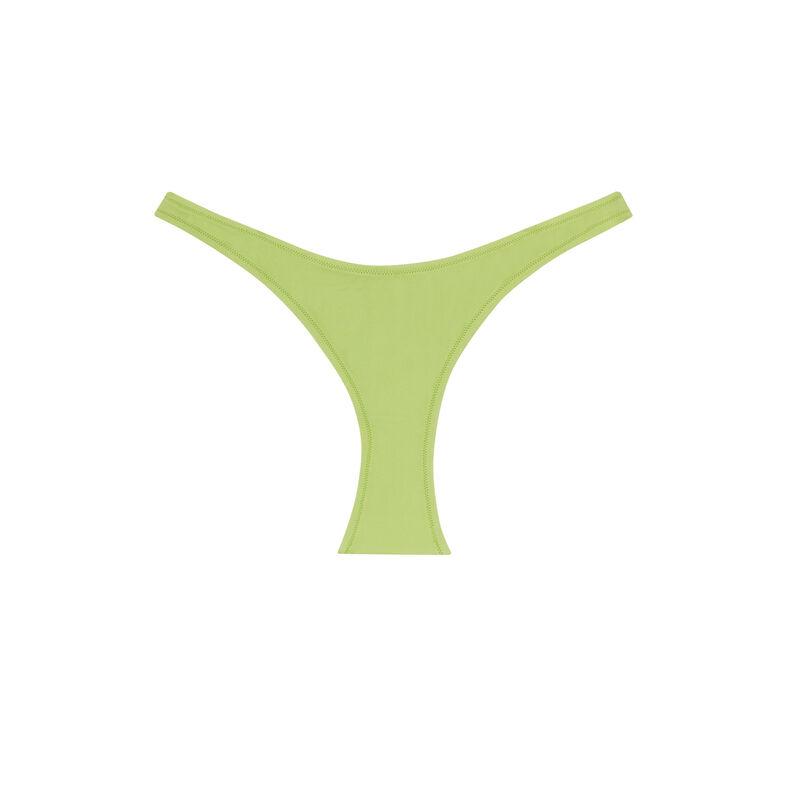 plain high-cut bikini bottom - green;