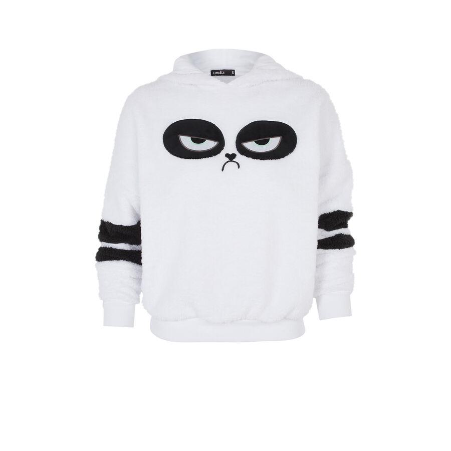 White pandapiliz sweatshirt;