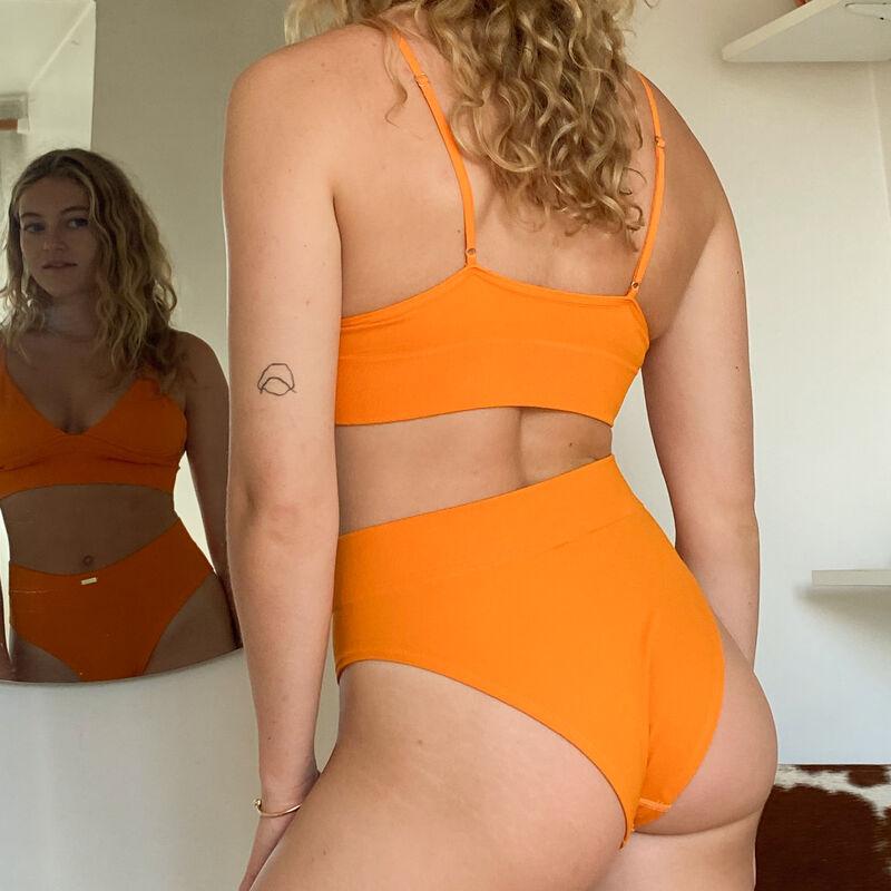 triangle bra without underwiring - orange;