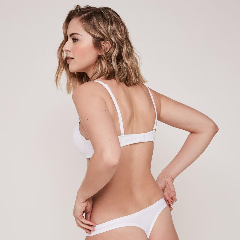 Pack of white Micro thongs;
