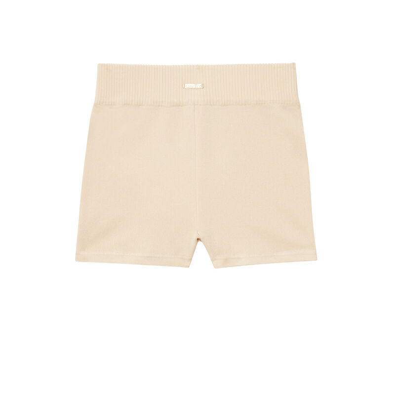 Jersey cycling shorts - beige;