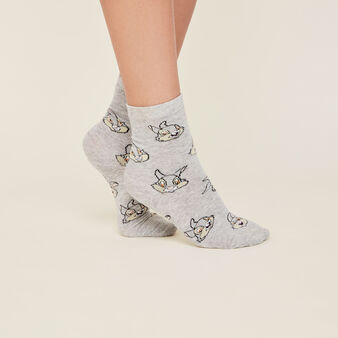 Lapiliz green socks grey.