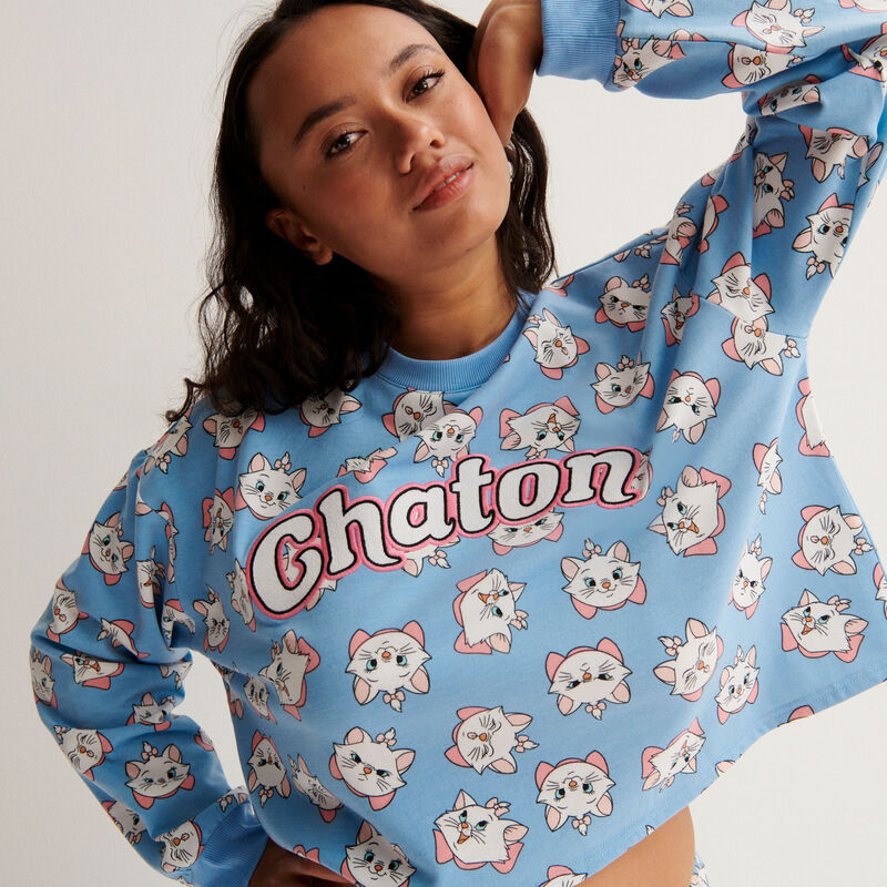 Marie from the Aristocats sweatshirt - blue;