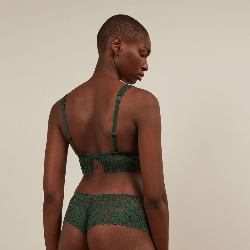 Lace hipsters - green ;