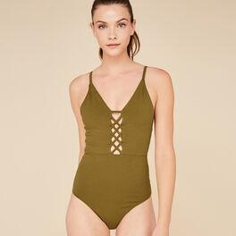 Laceiz khaki bodysuit green.