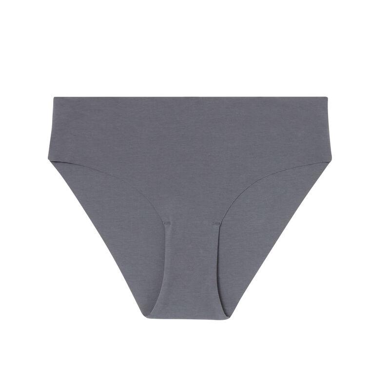 однотонные трусики-шорты из хлопка - серый;