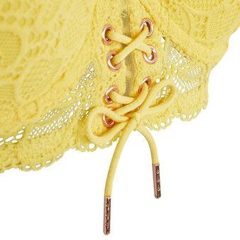 Żółty gorsetowy biustonosz modelujący sherifiz yellow.