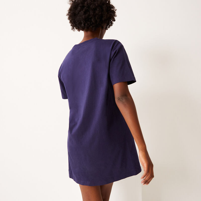 Stitch print tunic - blue ;