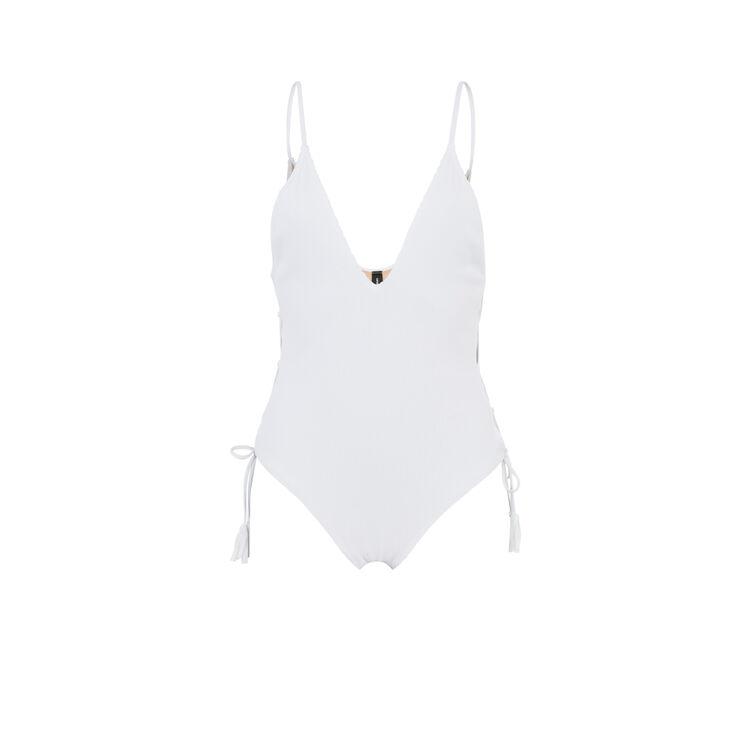 Naufragiz white one-piece swimsuit;