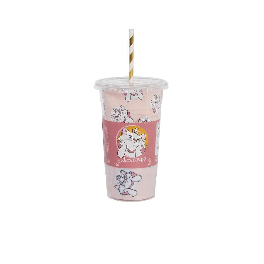 Розовый женский комплект со стаканом mangeriz;