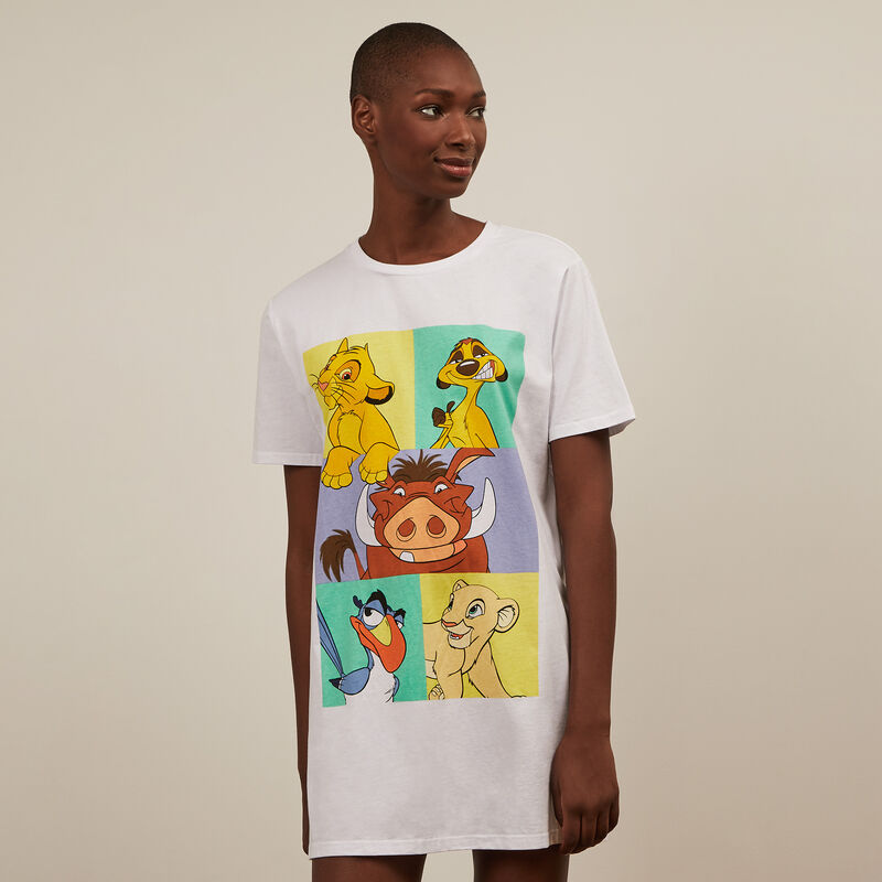 The Lion King short-sleeved tunic - white;
