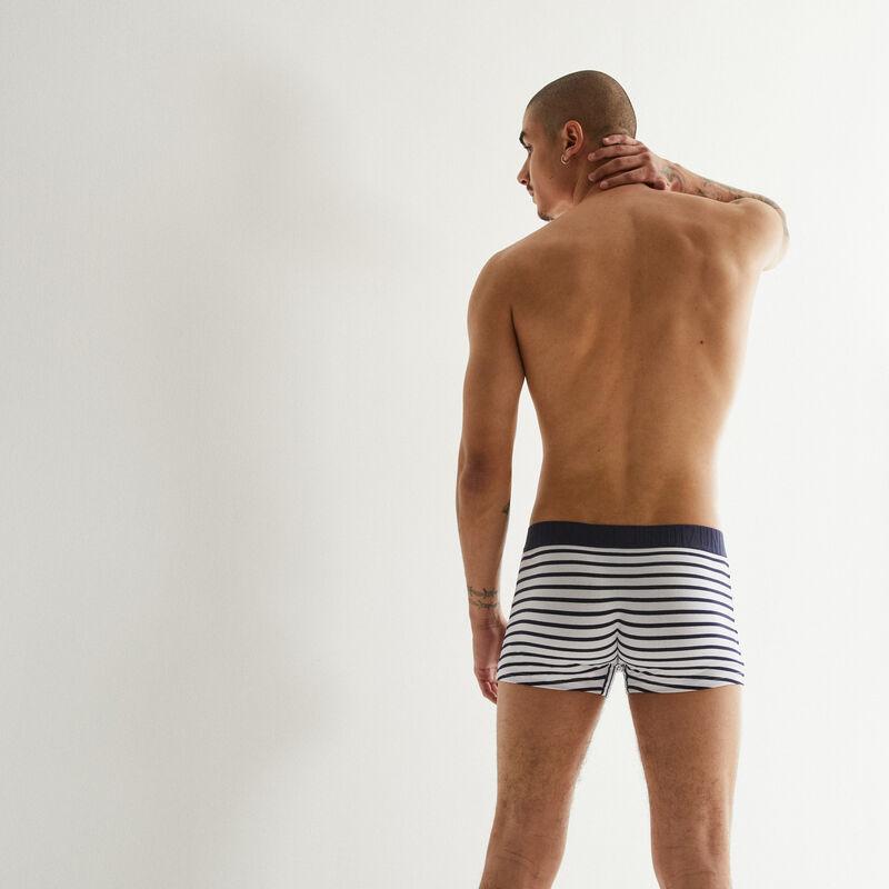 Striped boxers - white;