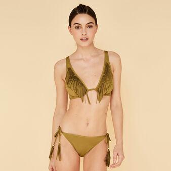 Doussiz khaki bikini top green.