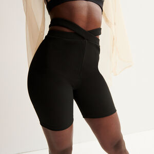Aya x undiz linked cycling shorts - black