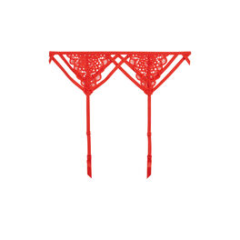 Paroliz red suspender belt red.