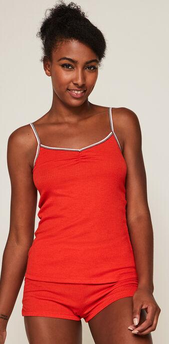 Raycooliz two-piece jersey pyjama set red.