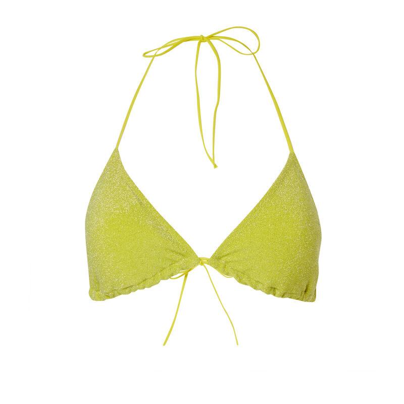 Sequined bralette bikini top - yellow;