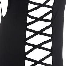 Instafestiz black one-piece swimsuit.
