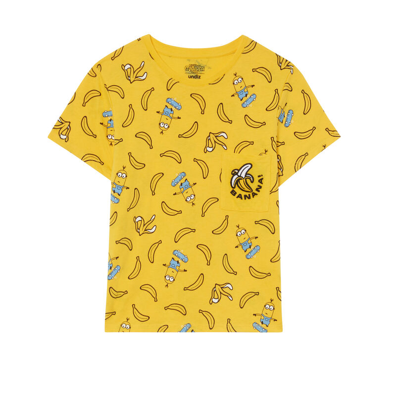 Minions banana patterned top - yellow;
