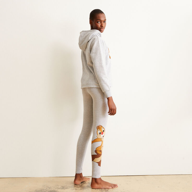 Leggings with Chip and Dale print - grey ;
