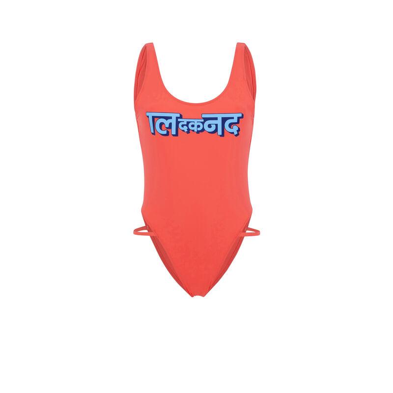 Ganeshiz coral one-piece swimsuit;