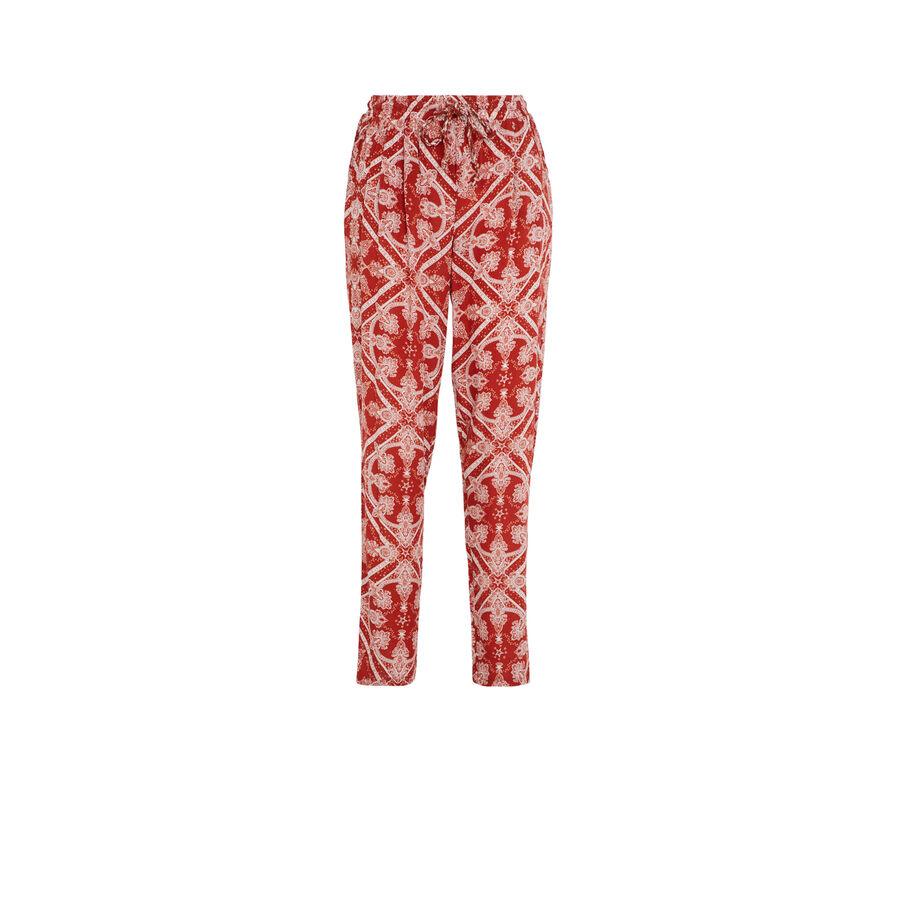 Кирпично-красные брюки juleiz;