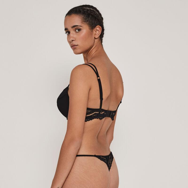Superstariz jewel detail push-up bra;