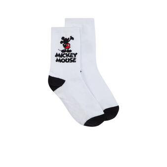 Silhoumickiz white socks white.