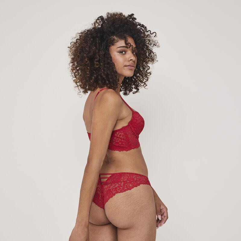 Luluiz padded lace bustier bra;