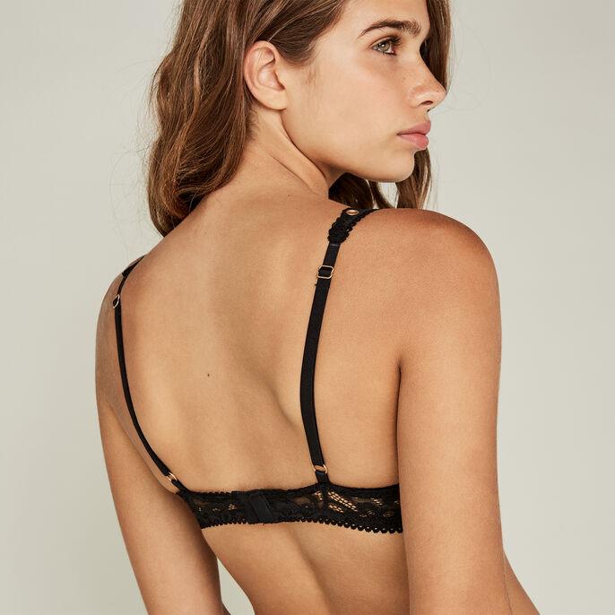 Fulliz black push-up bra black.