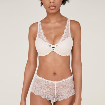 Everydayiz pale pink push-up triangle bralette pink.