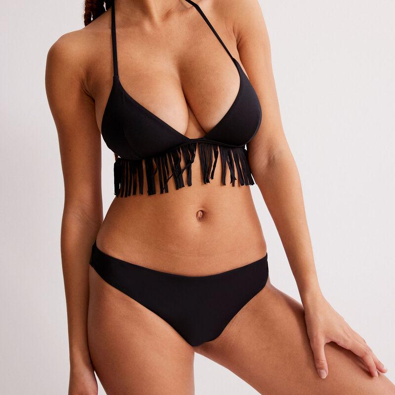 tanga bikini bottoms - black;