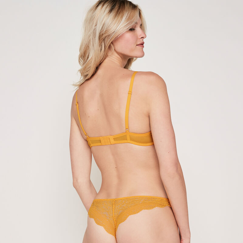Everydayiz saffron yellow push-up bra;
