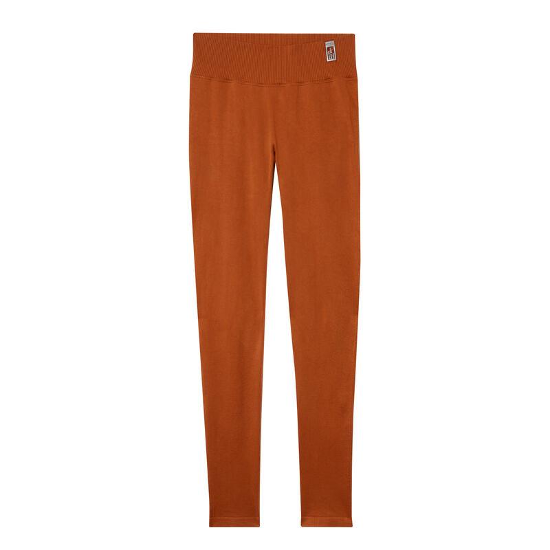 twist effect leggings - brown;