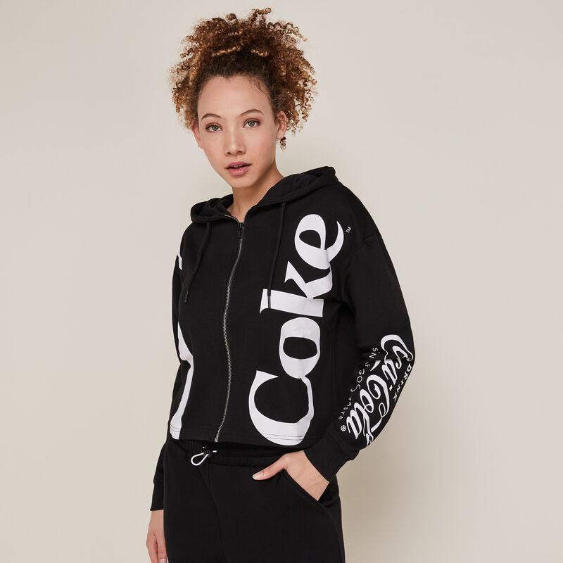 Coca-cola sweatshirt with zip - black;