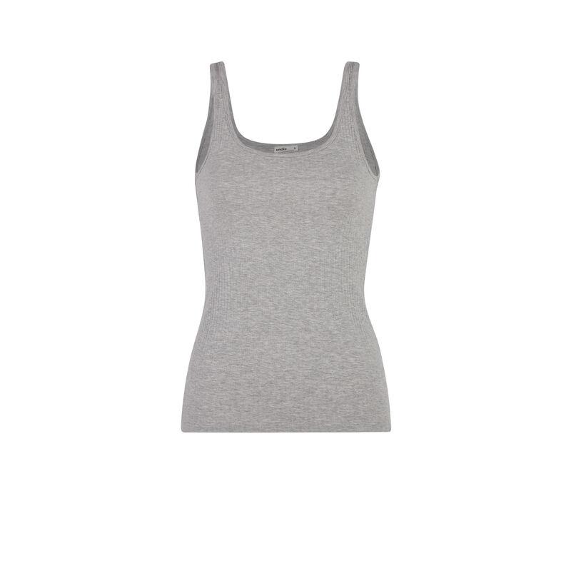 plain jersey vest - grey;