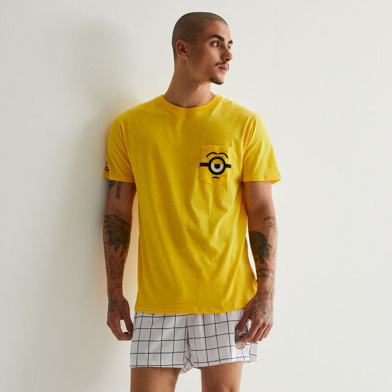 T-shirt with Minions pocket details - yellow;