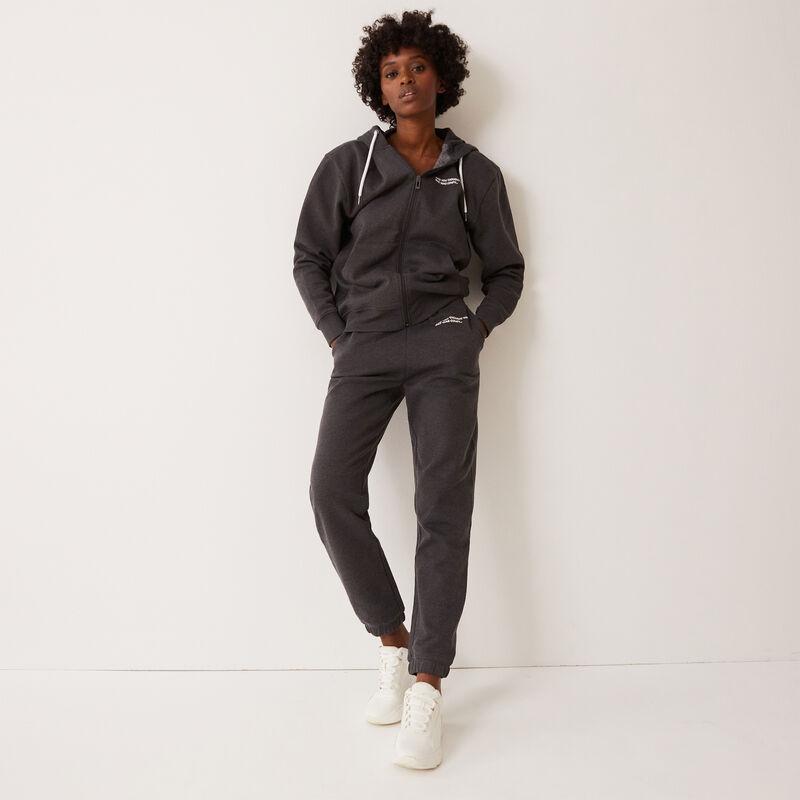 брюки с надписью и со сборками на талии и лодыжках - серый;