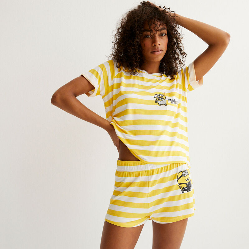 Minions striped top - yellow;